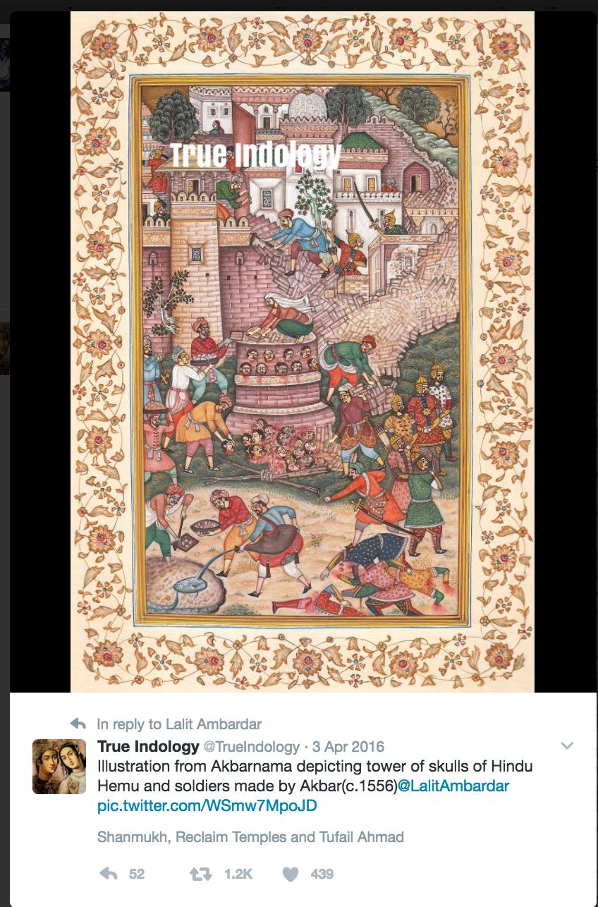 Akbar as a blood thirsty ruler
