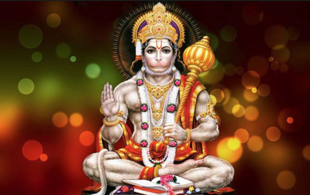 Hanuman sitting